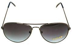 Klassische Pilotenbrille Unisex Sonnenbrille Fliegerbrille Pornobrille in vielen Farbkombinationen (64305)