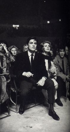 0 Alain Delon at a boxing match with Simone Paris and Jacques Villedieu, his manager Alain Delon, Britney Jean, Portraits, Beautiful Boys, Movie Stars, Actors & Actresses, Handsome, France, Black And White