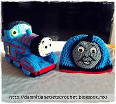 Finish one of the Christmas presents for my nephew. I just know that he's going to love them. :)    The Thomas beanie is a free pattern ...