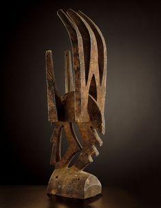 Bamana TOWER MASK Mali. H 40 cm.