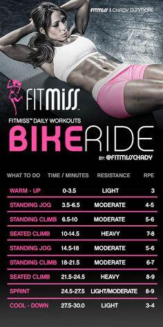 FitMiss Bike Ride Workout http://jackiesalsareup.com/vimpact- …