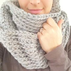 The chunky crochet infinity scarf - so cozy and soft and works up really quickly! Great last minute gift or beginner crochet project. Love!