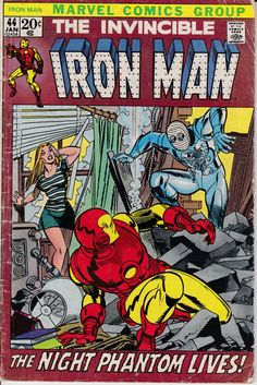 Iron Man 44 January 1972 Issue Marvel Comics by ViewObscura