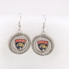 Florida Panthers Team Charm Dangle Earrings Ice Hockey Sport Fans Earrings For Women Birthday Party Gift #HockeyGifts