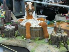 Funny Horse Cake      tastytulsa.com ...Repinned with thanks by www.DressageWaikato.co.nz...