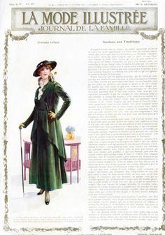 1915 October, La Mode Illustree, beautiful green color