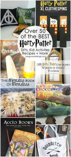 Hands down the best Harry Potter crafts, diys, tutorials, recipes and more #ArtsandCrafts