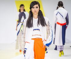 Fashion students from De Montfort University Leicester saw their designs hit the London catwalk today in front of some of the industry's biggest names as part of Graduate Fashion Week.