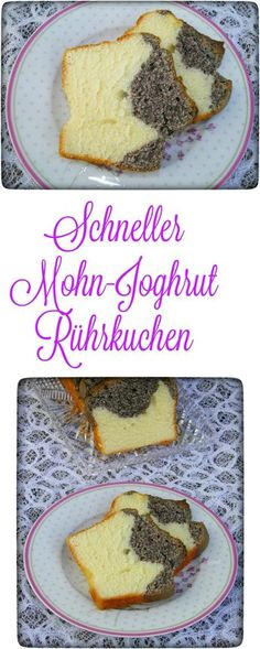 Fast pound cake: poppy yoghurt cake- Schneller Rührkuchen: Mohn-Joghurt Kuchen Poppy yogurt cake is really a lightning cake and … - Sweet Recipes, Cake Recipes, Dessert Recipes, Yummy Recipes, Fall Desserts, No Bake Desserts, Yogurt Cake, Tasty, Yummy Food