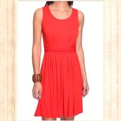 "Empire Waist Dress Offer $3 under list price so we can split the cost of shipping! NWT! Cute and comfortable soft red Spring/Summer Dress with scoop neckline, low square cut back, empire waist, ruching at waist, and pleated under waistline for lovely bottom flow. Falls to knees (I'm 5'5"") Size XL 16-18. Perfect NWT condition!  ✅ASK QUESTIONS ✅Bundle ✅Offers ❌NO Trades ❌NO Off-Site Transactions Faded Glory Dresses"