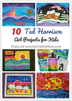 Ted Harrison - 10 projetos de arte para crianças Ted Harrison thought it was a compliment that children could understand his art. That's why they'll also love these Ted Harrison Art Projects for Kids! Kindergarten Art Projects, In Kindergarten, Easy Art Projects, Projects For Kids, Classe D'art, 3rd Grade Art, Grade 2, Inspiration Art, Ecole Art
