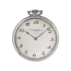 Vacheron Constantin Vintage 1930's Platinum Manual Wind Pocket Watch