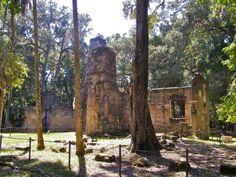 Sugar Mill ruins at Bulow Plantation Ruins Historic State Park