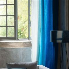 padua - cobalt fabric | Designers Guild