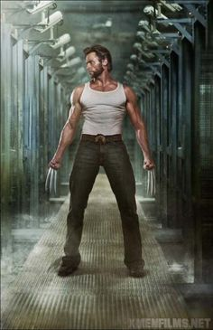 Hugh Jackman - Wolverine - Whoa, do not mess with him!... On the other hand, if I were about 30 years younger, I might like to mess with him a little... with the blades retracted, of course...