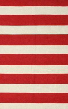 Rugs USA Homespun Solid Stripes Red Rug-- haha, I could make Fox's bathroom absolutely sickening.  (This is what his shower curtain looks like)