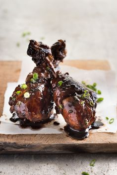 Sticky balsamic chicken drumsticks made on the stove! An incredible glaze that is made with just 5 ingredients. Shortcut cooking without compromise!
