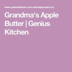 Grandma's Apple Butter | Genius Kitchen