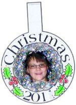 Kids Personalized Wreath ornament with Photo or self-portrait