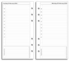 My Life All in One Place: Free Filofax diary inserts to print on Letter paper
