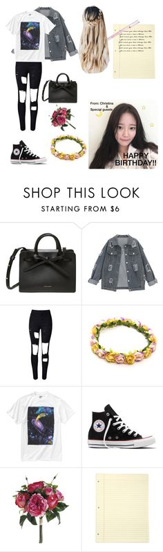 """""""《Carli's birthday video》"""" by certified-fangirl13 ❤ liked on Polyvore featuring WithChic and Converse"""