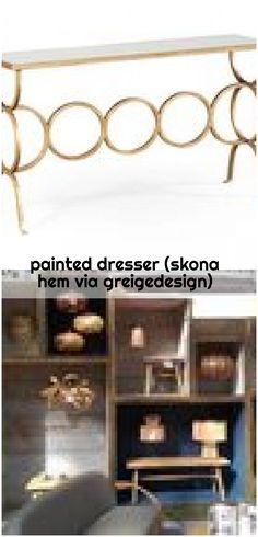 painted dresser (skona hem via greigedesign) - ikea-dresser-hack Ikea Dresser Hack, Bookcase, Shelves, Home Decor, Shelving, Decoration Home, Room Decor, Book Shelves, Shelving Units