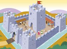 castle #castle #medieval #vector #illustration #cartoon