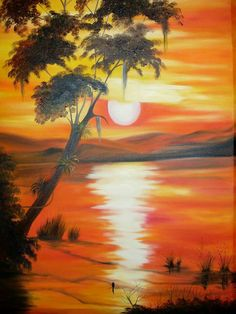 Painting Pictures, Pictures To Paint, Diy Home Crafts, Learn To Paint, Picasso, Wall Design, Landscape Paintings, Stencil, Scenery