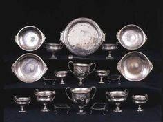 Pompeii, silver discovery from 2005: solid silver plates and goblets, all beautifully polished and weighing over 4kg. There are also two exquisitely engraved wine cups, a set of small dishes, a large serving plate with an elaborately chased border, a spoon, plus some tiny, finely worked silver trays for appetisers — World Archaeology