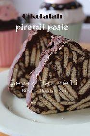 BEYAZ HANIMELİ: Çikolatalı piramit pasta