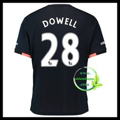 Fotballdrakter Everton DOWELL #28 Bortedraktsett 2016-2017 Everton, Premier League, Mens Tops, T Shirt, Supreme T Shirt, Tee Shirt, Tee
