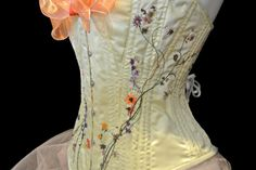The Scarlett: Hand Embroidered Corset by Mad Toppings Corsetry. $249.00, via Etsy.