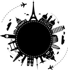 World Travel Drawing Illustrations Hight Light, Shoulder Tattoos For Women, Travel Drawing, Instagram Highlight Icons, Stencils, Around The Worlds, Stickers, Drawings, Pictures