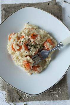 "Carrot risotto - I die."" (Well, I'll likely live, if for no other reason than leftovers - nb).."