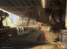 ArtStation - Magic: The Gathering - Master Collection, Titus Lunter Fantasy City, Fantasy Castle, Fantasy Places, Sci Fi Fantasy, Fantasy World, Magic The Gathering, Mtg Art, Fantasy Concept Art, Fantasy Setting