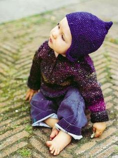 Debbie Bliss Noro SoW - Moss Stitch Sweater - FREE pattern.