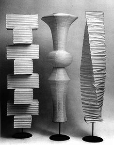 """On Becoming an Artist: Isamu Noguchi """"Everything is sculpture. Any material, any idea without hindrance born into space, I consider sculpture."""" – Isamu Noguchi Isamu Noguchi was one of the. Noguchi Lamp, Isamu Noguchi, Lamp Design, Lighting Design, Mid-century Modern, Contemporary, Mid Century Lighting, My Home Design, Modern Floor Lamps"""