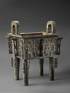 Bronze Ritual Vessel (Fangding). China, Early Western Zhou Dynasty, 11th century B.C.