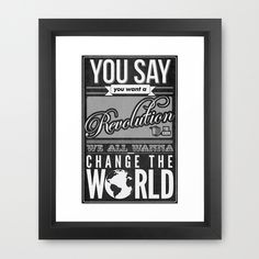 Revolution.  Framed Art Print