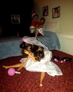 ELF ON THE SHELF ..CAUGHT BY BARBIE !!!