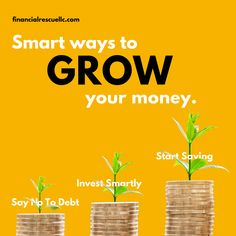 If you want to gain control of your finances you need to learn how to grow your money the smart way! Financial Literacy, Financial Tips, Gain, Investing, Finance, Money, Sayings, Learning, Silver