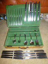 62pc Gense Swedin midcentury modern minimalist silverware set original box 7pcpc - $76 Silverware Sets, Flatware Set, Modern Minimalist, Midcentury Modern, Mid Century, Kitchen Appliances, The Originals, Box, Diy Kitchen Appliances