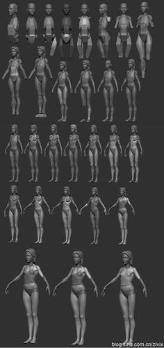 一张图让你了解女人人体结构的几何关系