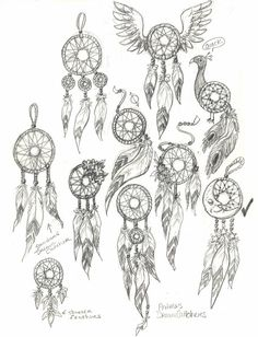 how to draw dream catchers step by step - Google Search