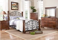 Low Wood Wrought Iron King Size Bed Dream Home