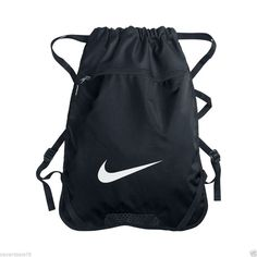b517316c79 NIKE BLACK GYM SACK BACK PACK BACKPACK BOOK BAG GYM TRAVEL SPORTS  Nike   gymsack