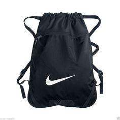 NIKE BLACK GYM SACK BACK PACK BACKPACK BOOK BAG GYM TRAVEL SPORTS #Nike #gymsack