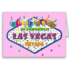 have a fabulous las vegas birthday balloons card card las vegas