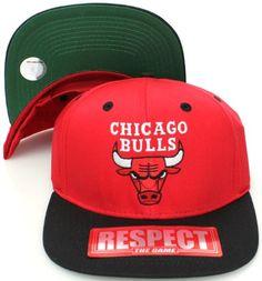 b0f0869f4b7 Chicago Bulls Retro Hat Cap Snapback Jordan RED BLK GRN