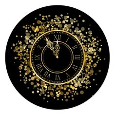 The Clock Strikes 12 New Year's Party Invitation - invitations personalize custom special event invitation idea style party card cards New Years Eve Invitations, Holiday Invitations, Zazzle Invitations, Party Invitations, New Year Clock, New Years Eve Events, New Year's Cake, Paris Party, Nye Party